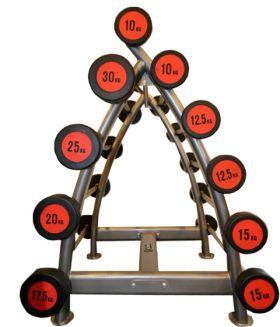 Vektstangstativ med 10 faste vekter