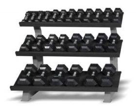 13 par manualer 2 -30 kg med stativ