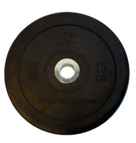 ECO Black Bumper Plate 15 kg