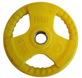 Olympisk vektskive gul 15kg