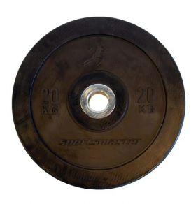ECO Black Bumper Plate  20 kg