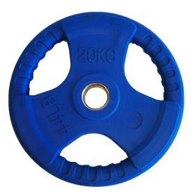 Olympisk vektskive blå 20 kg