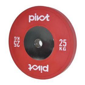 XF Elite Bumper Plate 25KG rød