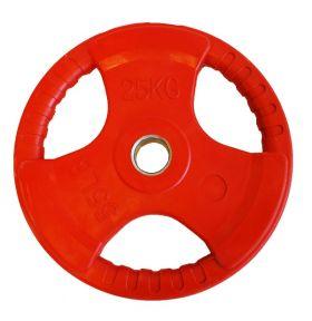 Olympisk vektskive rød 25 kg
