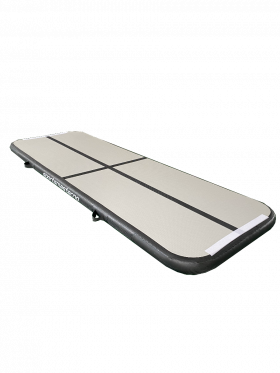 Airtrack 3 x 1m grå/sort