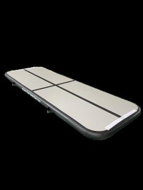 Airtrack 4 x 1m grå/sort