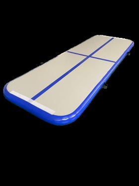 Airtrack 4 x 1m grå/mørk blå