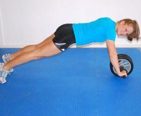 Fitnessgulv blå med modell
