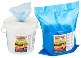 Antibakterielle våtservietter og bøtte