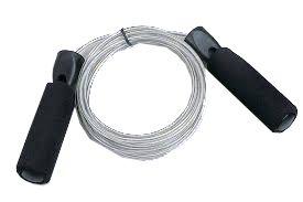 Hoppetau med plastbelagt wire