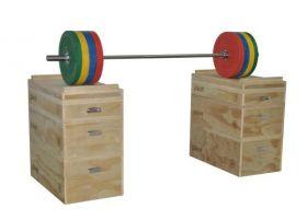 Pivot Wooden Jerk Blocks med vektstang og bumperplates