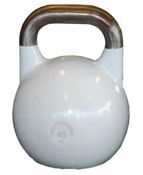 Sportsmaster Competition Kettlebell 40 kg hvit