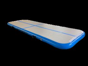 Airtrack 4 x 1m grå/lys blå