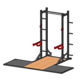 Løfteplattform med Athletic Half rack