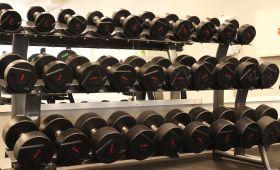 Lexco Dumbell set 18 par, 3-40 kg med stativ