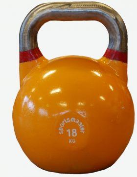 Sportsmaster Competition Kettlebell 18 kg oransje