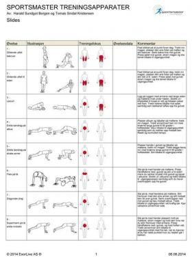 Treningsplakat slides